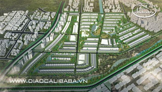 Quảng cáo của Địa ốc Alibaba về dự án KĐT Tây Bắc Củ Chi, ảnh Internet