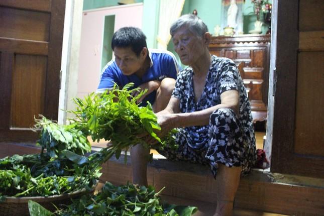 Xót xa mẹ già bán rau nuôi hai con tàn tật - ảnh 1