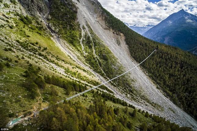 Cầu treo đi bộ dài nhất thế giới mở của đón du khách - ảnh 2