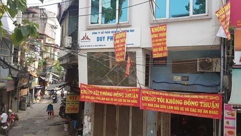 Hà Nội: Người dân đường La Thành phản đối thu đất làm bãi đỗ xe - ảnh 1