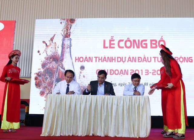 Coca Cola Việt Nam hoàn thành gói đầu tư mở rộng 300 triệu USD giai đoạn 2013-2016 - ảnh 2