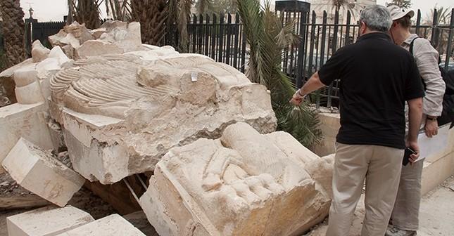 Hoàn thành trùng tu tượng Sư tử 2.000 năm tuổi ở thành phố cổ Palmyra - ảnh 1