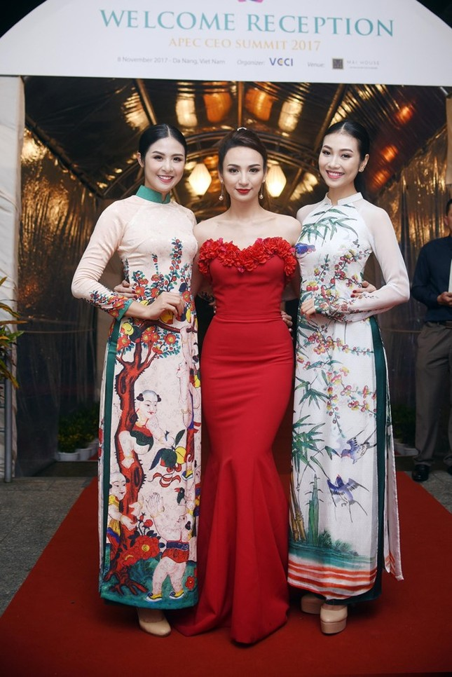 Ngọc Hân cùng dàn người đẹp diễn áo dài tại tiệc chào mừng APEC - ảnh 2