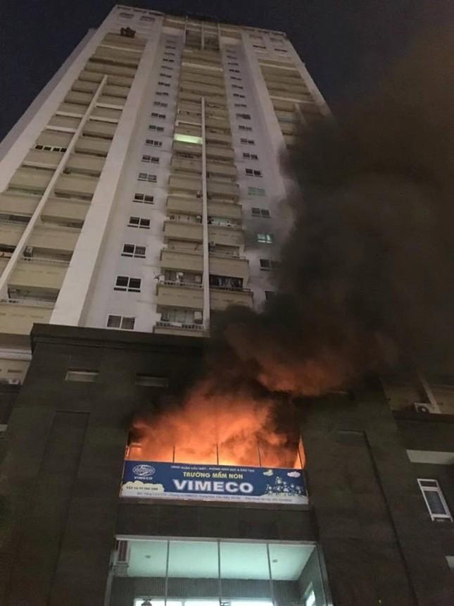 Hỏa hoạn tại trường mầm non trên chung cư 25 tầng - ảnh 1