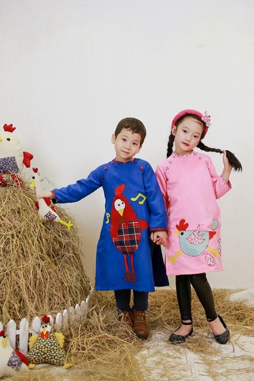 BST áo dài con gà dành riêng cho bé năm Đinh Dậu - ảnh 10