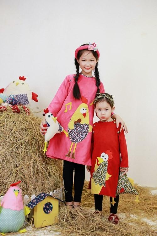 BST áo dài con gà dành riêng cho bé năm Đinh Dậu - ảnh 11
