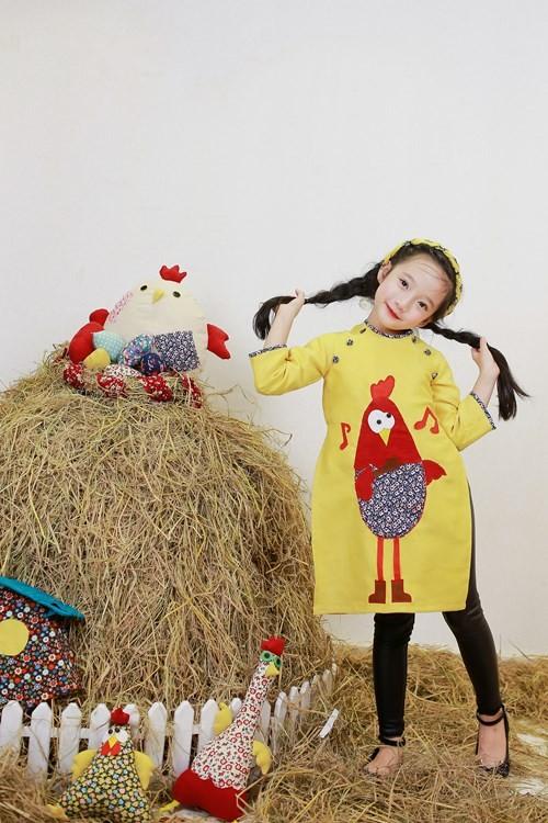 BST áo dài con gà dành riêng cho bé năm Đinh Dậu - ảnh 12