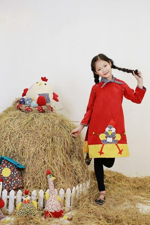 BST áo dài con gà dành riêng cho bé năm Đinh Dậu - ảnh 2