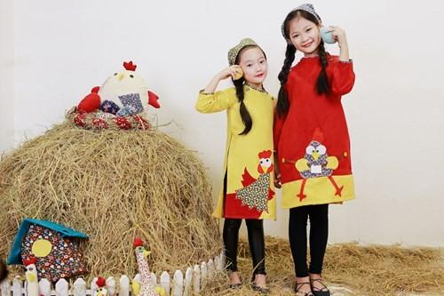 BST áo dài con gà dành riêng cho bé năm Đinh Dậu - ảnh 3