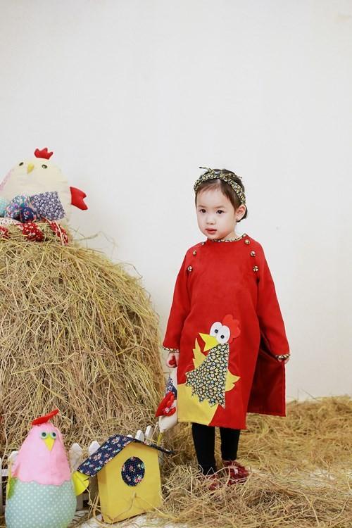BST áo dài con gà dành riêng cho bé năm Đinh Dậu - ảnh 5