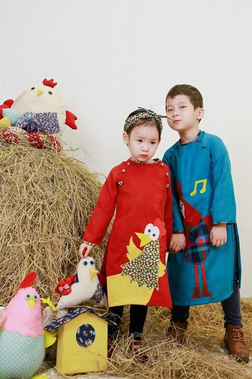 BST áo dài con gà dành riêng cho bé năm Đinh Dậu - ảnh 6