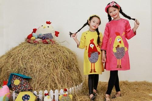 BST áo dài con gà dành riêng cho bé năm Đinh Dậu - ảnh 7