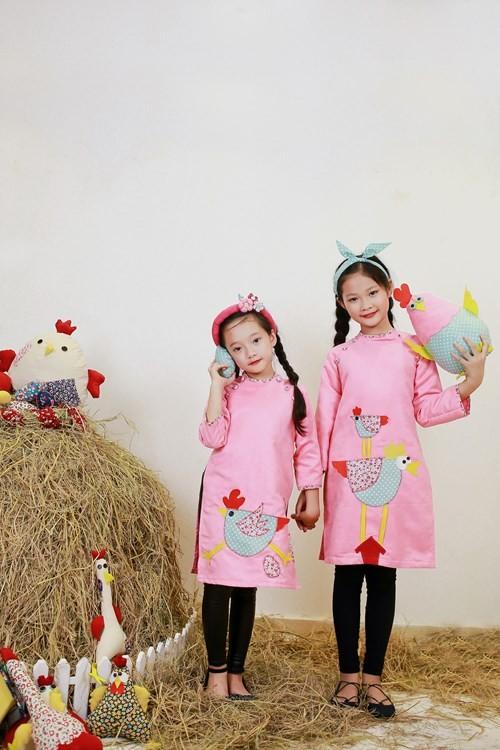 BST áo dài con gà dành riêng cho bé năm Đinh Dậu - ảnh 9