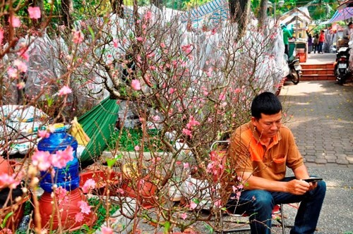 Đường phố Sài Gòn ngập hoa, nhộn nhịp không khí Tết - ảnh 10