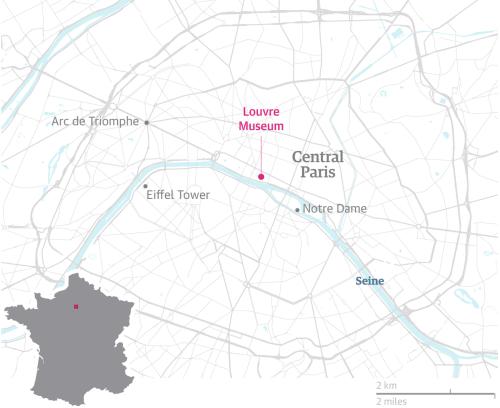 Tấn công bằng dao gần bảo tàng Louvre ở Pháp - ảnh 1