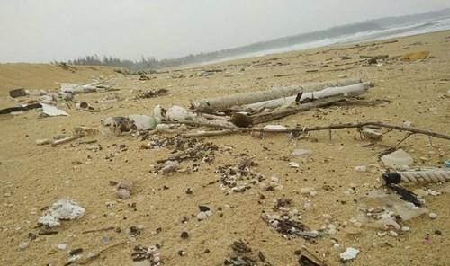 Thu gom rác thải, dầu vón cục dạt vào bờ biển - ảnh 3