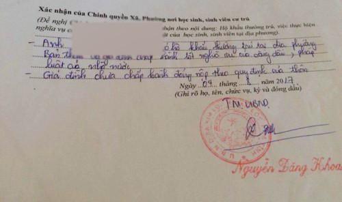 Thêm xã ở Hà Tĩnh bút phê gây khó vào lý lịch sinh viên - ảnh 1