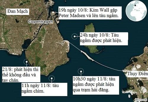 Nghi phạm giết nữ nhà báo Thụy Điển có thể giấu vũ khí trong tàu ngầm - ảnh 1