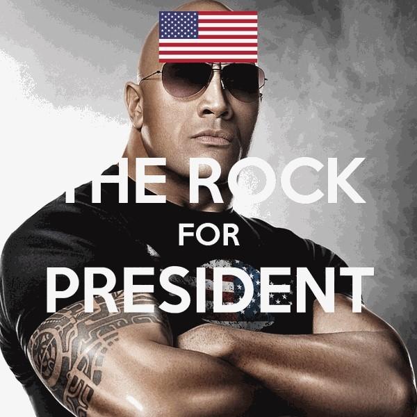 Ngôi sao cơ bắp 'The Rock' muốn tranh cử tổng thống - ảnh 1