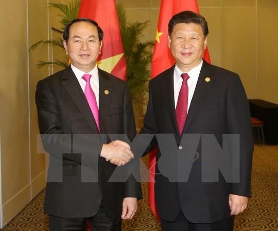 Chủ tịch nước gặp gỡ lãnh đạo thế giới tại APEC - ảnh 1