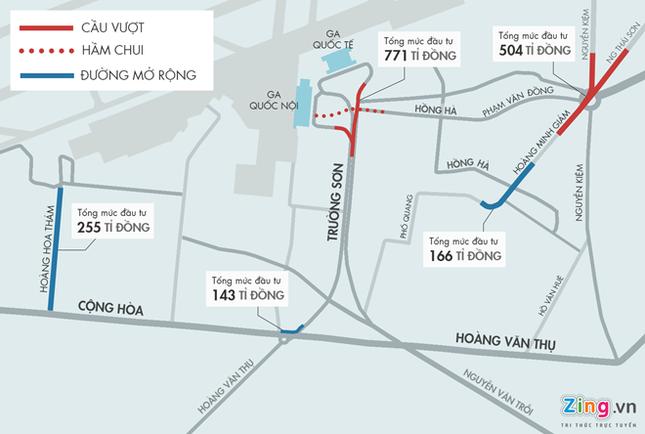 TP.HCM xây cầu vượt thép hình chữ Y ở cửa ngõ Tân Sơn Nhất - ảnh 1