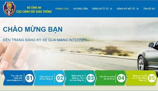 Người dân tại Hà Nội và TP.HCM sẽ đăng ký xe ôtô qua mạng - ảnh 1
