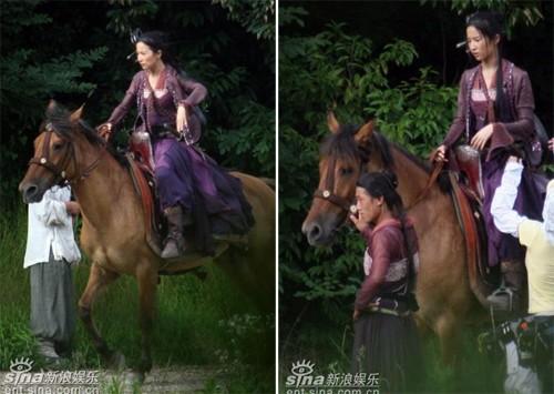 Hậu trường bay nhảy, cưỡi ngựa trong phim cổ trang Hoa ngữ - ảnh 12