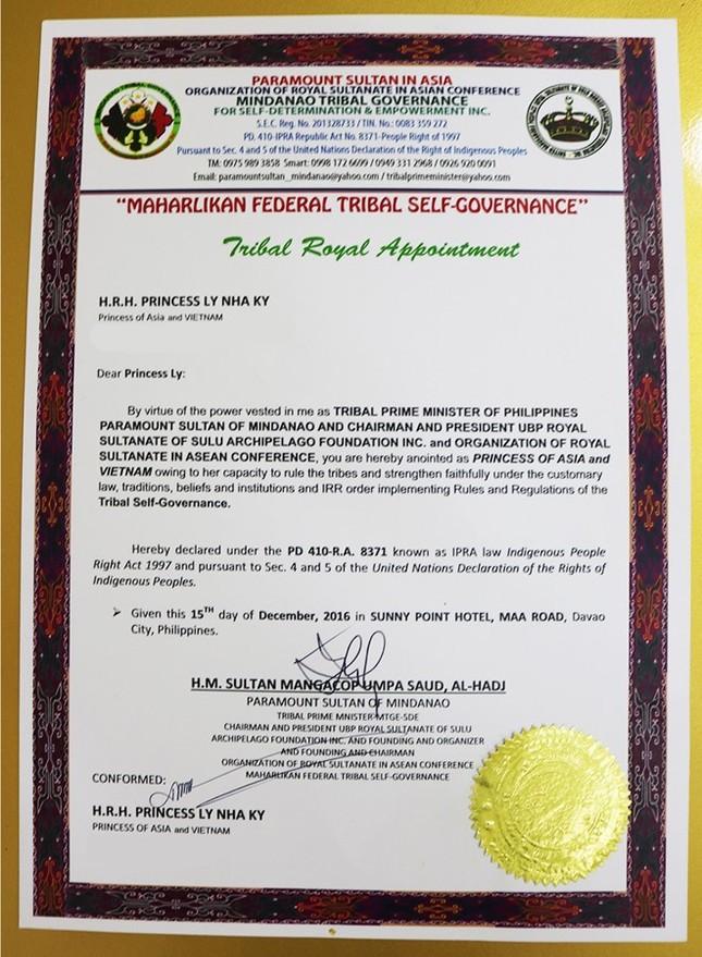 Lý Nhã Kỳ được chỉ định làm công chúa châu Á của Mindanao - ảnh 1