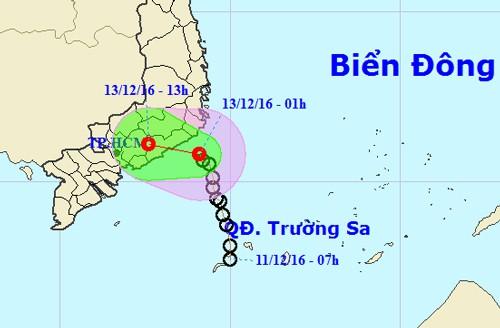 Áp thấp suy yếu, Sài Gòn sẽ mưa to - ảnh 1