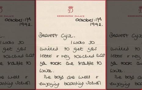 6 bức thư đấu giá và tình yêu con của Công nương Diana - ảnh 1