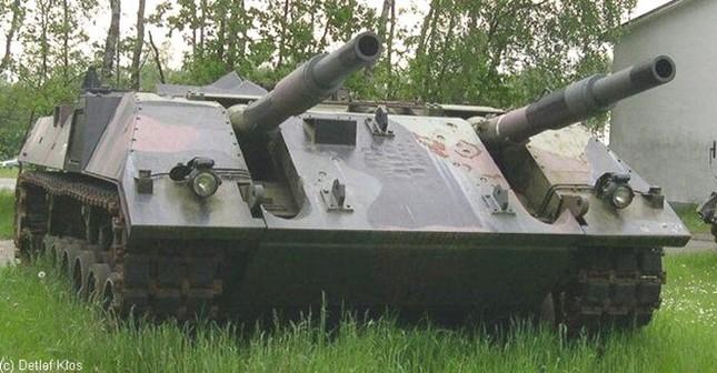Xe tăng pháo đôi kỳ lạ của Đức - ảnh 1
