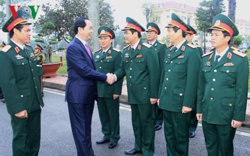 Chủ tịch nước nói chuyện với quân dân Trường Sa qua cầu truyền hình - ảnh 2