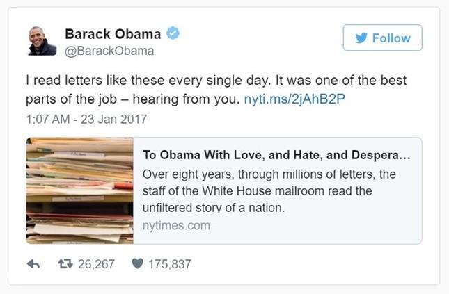Điều Obama luyến tiếc sau 8 năm ở Nhà Trắng - ảnh 1
