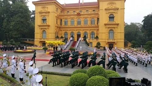 Chủ tịch nước chủ trì lễ đón Nhà vua và Hoàng hậu Nhật Bản - ảnh 2