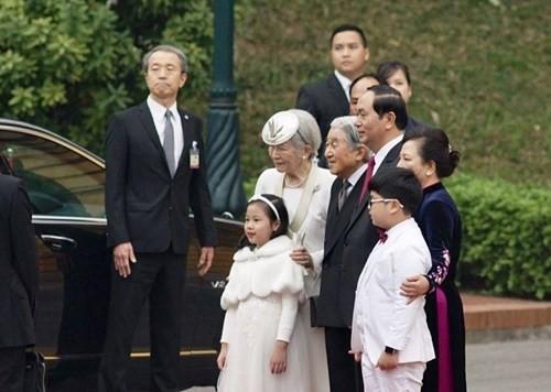 Chủ tịch nước chủ trì lễ đón Nhà vua và Hoàng hậu Nhật Bản - ảnh 3