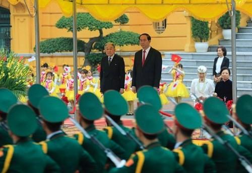 Chủ tịch nước chủ trì lễ đón Nhà vua và Hoàng hậu Nhật Bản - ảnh 4