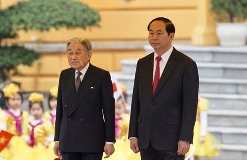 Chủ tịch nước chủ trì lễ đón Nhà vua và Hoàng hậu Nhật Bản - ảnh 5