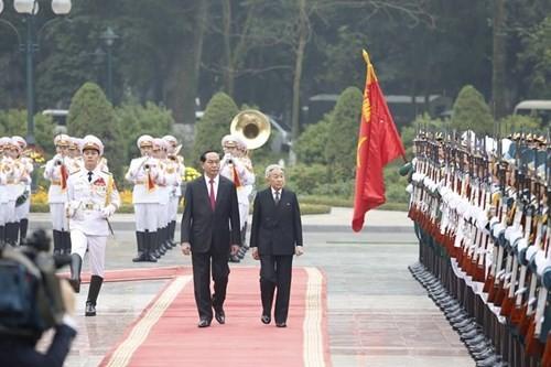 Chủ tịch nước chủ trì lễ đón Nhà vua và Hoàng hậu Nhật Bản - ảnh 6