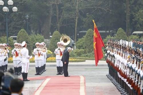 Chủ tịch nước chủ trì lễ đón Nhà vua và Hoàng hậu Nhật Bản - ảnh 7