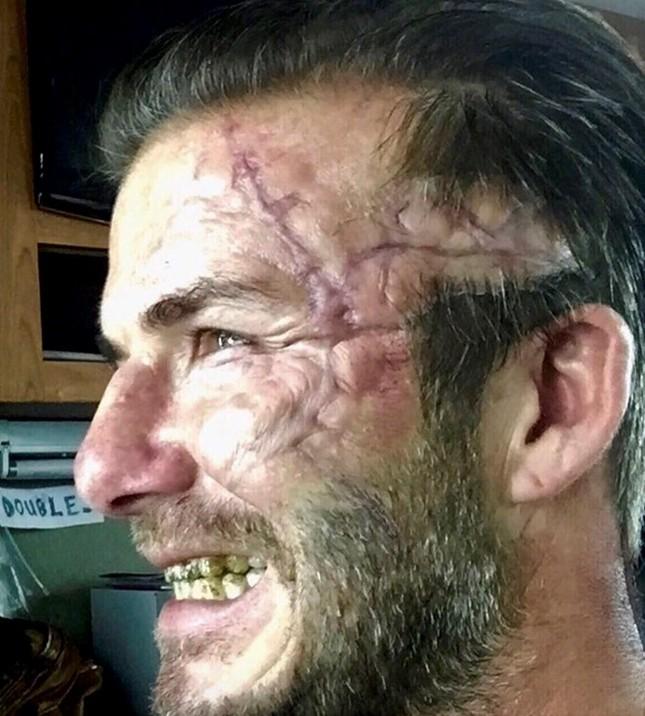 David Beckham hoá trang kinh dị trong phim mới - ảnh 1