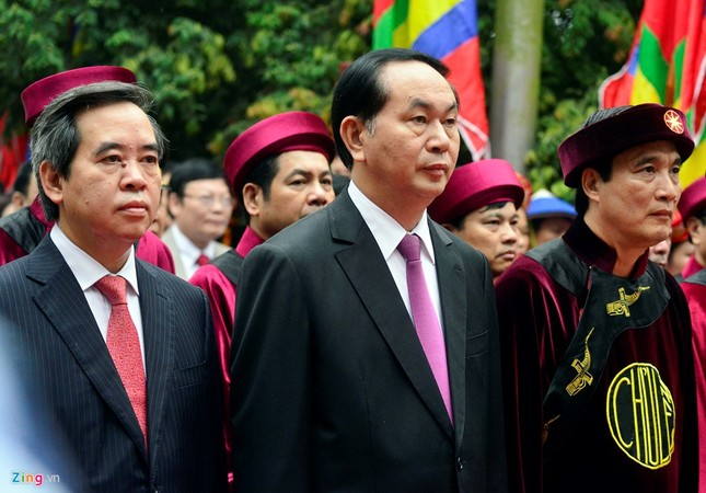 Chủ tịch nước dâng hương tưởng niệm các Vua Hùng - ảnh 6