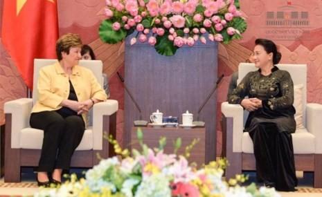 Chủ tịch quốc hội Kim Ngân trong áo dài Võ Việt Chung - ảnh 2