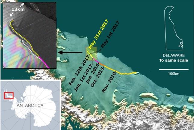 Tảng băng lớn nhất từ trước tới nay sắp tách khỏi Nam Cực - ảnh 1