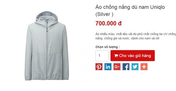 Chiếc áo chống nắng 1 triệu, đàn ông đua nhau đặt mua - ảnh 1
