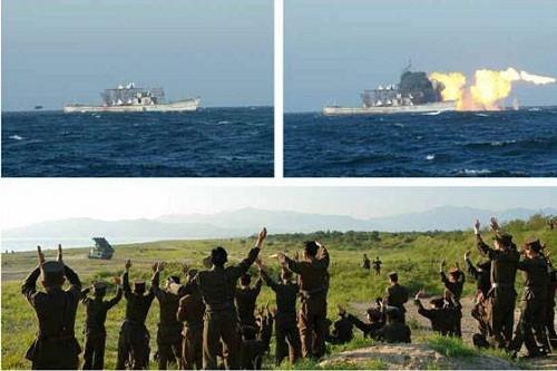 Triều Tiên công bố hình ảnh tên lửa diệt hạm xuyên thủng tàu chiến - ảnh 1