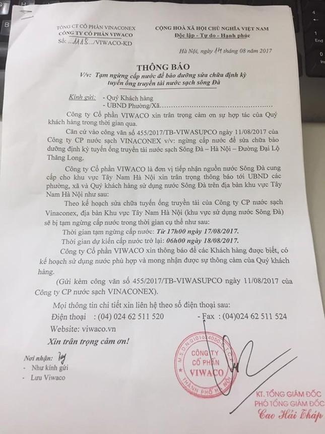 Dân Hà Nội nháo nhác trước thông báo mất nước sạch sông Đà - ảnh 1