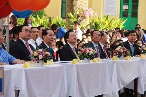 Chủ tịch nước Trần Đại Quang dự lễ khai giảng ở Trường Trưng Vương - ảnh 1