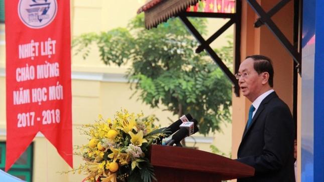 Chủ tịch nước Trần Đại Quang dự lễ khai giảng ở Trường Trưng Vương - ảnh 2