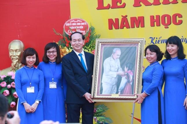 Chủ tịch nước Trần Đại Quang dự lễ khai giảng ở Trường Trưng Vương - ảnh 3