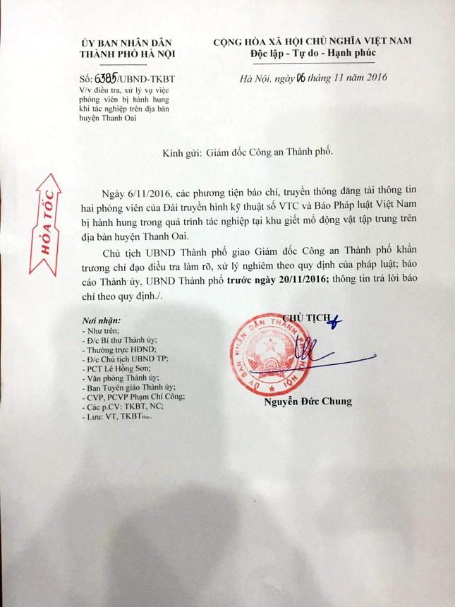 Chủ tịch TP Hà Nội Nguyễn Đức Chung chỉ đạo làm rõ việc đánh phóng viên - ảnh 1